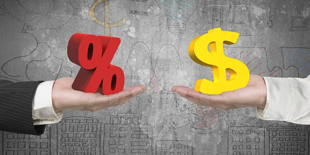 Percentage Sign and Dollar Sign depicting the Cash Rate